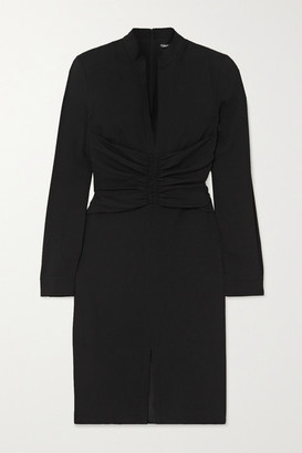Tom Ford Ruched Stretch-georgette Dress - Black