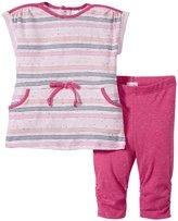 Petit Lem Origami Fish Tunic & Legging (Baby) - Pink/Coral - 18 Months