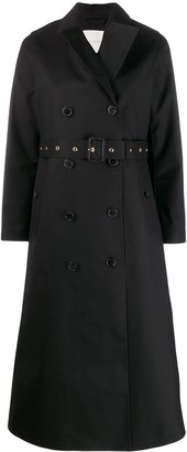MACKINTOSH MONTROSE Black Bonded Wool & Mohair Long Trench Coat | LR-091