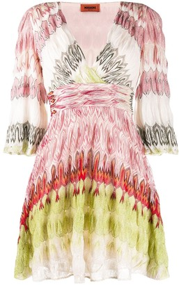 Missoni Abstract-Print Gathered Dress