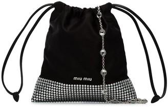 Miu Miu Ayers crystal-studded shoulder bag