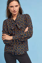 Tracy Reese Bow Silk Blouse