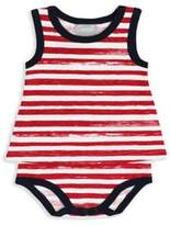 Coccoli Carnival in Venice Sleeveless Baby Doll Bodysuit in Red Stripe