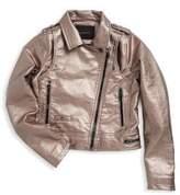 Blank NYC Girl's Metallic Overlayed Jacket