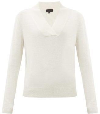 Nili Lotan Beacon Shawl-collar Cashmere Sweater - Ivory