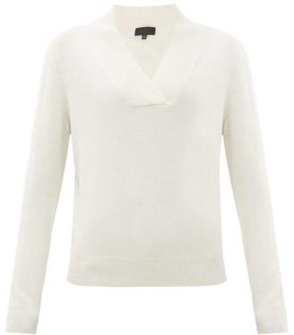Nili Lotan Beacon Shawl-collar Cashmere Sweater - Womens - Ivory