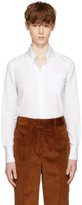 Prada White Classic Poplin Shirt