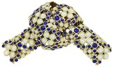 Tiffany & Co. 18K Yellow Gold With White and Blue Enamel Knot Pin Brooch