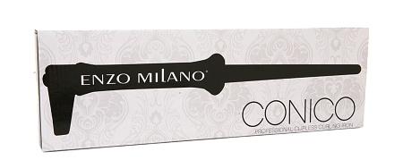Enzo Milano Professional Clipless Curling Iron, Model# CON 1809 B 18/9mm Black
