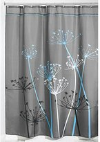 InterDesign Thistle Fabric Shower Curtain, 54 x 78-Inch, Gray/Blue