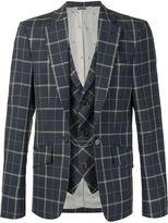 Vivienne Westwood Man checked layered blazer