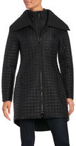Dawn Levy Oversize-Collar Quilted Coat