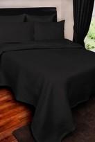 Kensie Sonoma Matt Satin Standard Pillow Sham - Black - 18 x 28
