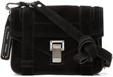 Proenza Schouler Black Suede Mini PS1 Crossbody Bag