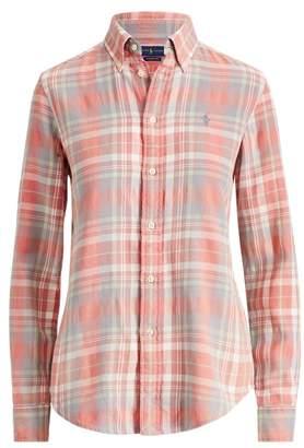 Ralph Lauren Classic Fit Cotton Plaid Shirt