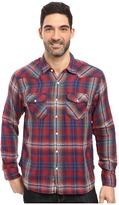 True Grit Montana Plaid Long Sleeve Two-Pocket Western Shirt