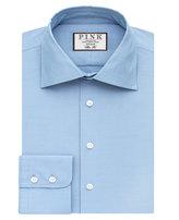 Thomas Pink Hopkins Texture Slim Fit Button Cuff Shirt