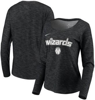 Nike Women's Black Washington Wizards Tonal Performance Slub Long Sleeve T-Shirt