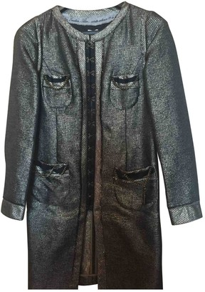 Hoss Intropia Silver Cotton Coat for Women