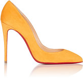 Christian Louboutin Women's Pigalle Follies Suede Pumps-ORANGE, YELLOW