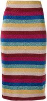 Laneus striped lurex skirt