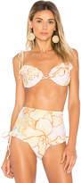 MinkPink Animal Orchid Cupped Bikini Top