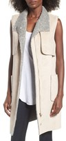 J.o.a. Women's Long Faux Shearling Vest