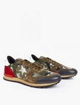 Valentino Camustar Leather Running Sneakers
