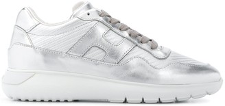 Hogan Metallic Logo Sneakers