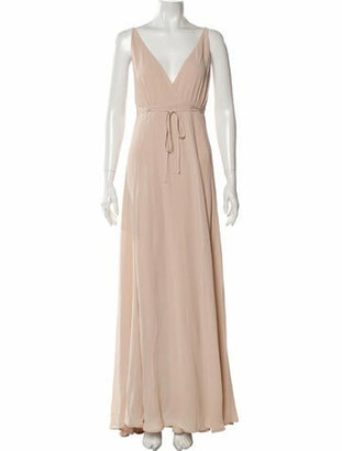 Reformation V-Neck Long Dress