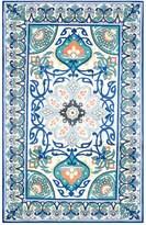 nuLoom Floral Leda Rug - Blue - Multiple Sizes