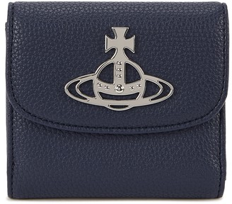 Vivienne Westwood Johanna Navy Faux Leather Wallet