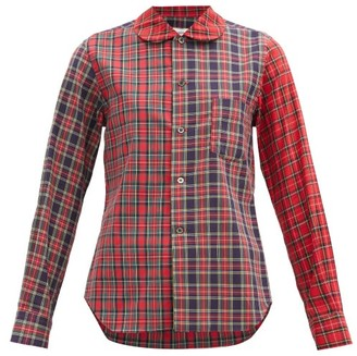 COMME DES GARÇONS GIRL Tartan Cotton-twill Shirt - Red Multi