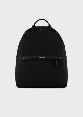 Giorgio Armani Waterproof Nylon And Leather Backpack