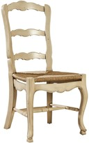 The Well Appointed House French Ladderback Side Chair with Rush Seat-Set of Two - On Back Order Until November 30th