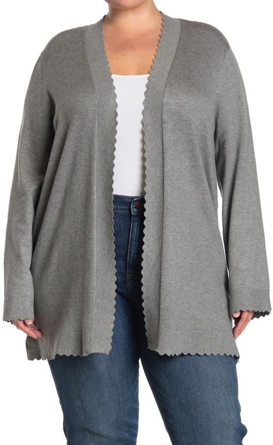Cyrus Scalloped Edge Open Front Cardigan