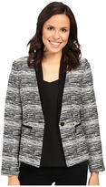 Ivanka Trump Tweed One-Button Jacket