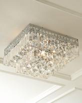 Horchow Five-Light Crystal Flush-Mount Ceiling Fixture
