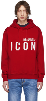 DSQUARED2 Red Icon Hoodie