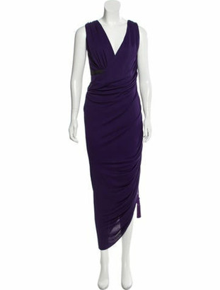 Lanvin Sleeveless Ruched Gown w/ Tags Indigo