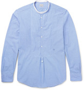 Massimo Alba - Grandad-collar Striped Cotton Shirt