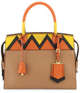 Prada Esplanade Medium Greca City Satchel Bag
