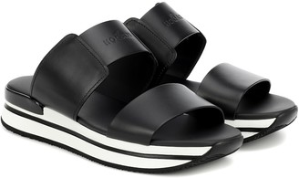 Hogan H257 leather sandals