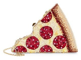 Judith Leiber Pepperoni Pizza Crystal Clutch