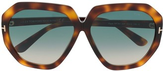 Tom Ford Butterfly Frame Gradient Sunglasses