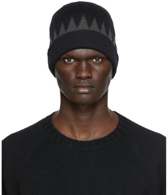 Undercover Black and Grey Wool Beanie