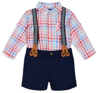 Andy & Evan Little Boy's 3-Piece Plaid Button-Down Set