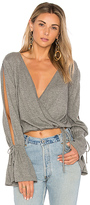 MinkPink Chateau Wrap Sweater in Gray