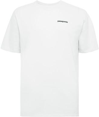 Patagonia Responsibili-Tee P-6 Logo-Print Recycled Cotton-Blend Jersey T-Shirt