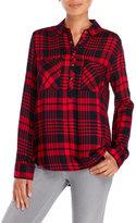 YMI Jeanswear Plaid Two-Pocket Blouse